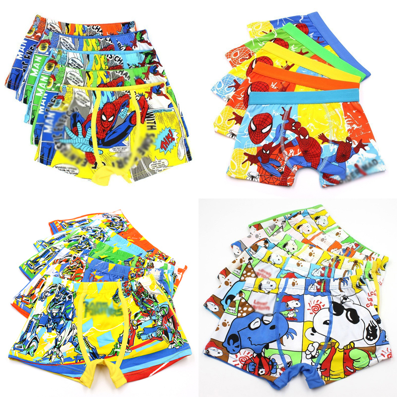 4pcs/lot Children Child Elastic Underpants Panties Panty Underpant Cartoon Kids Underwear Baby Girls Underwears Briefs For Boys