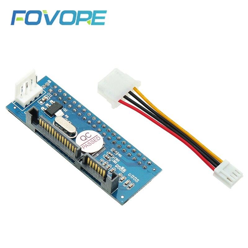 SATA IDE Adapter 40 Pin IDE To SATA Converter SATA-IDE Converter 3.5 HDD IDE/PATA Hard Disk Adapter With 7 Pin-SATA Data Cable