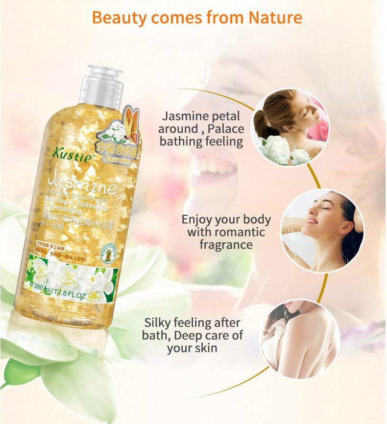 Жасмин для мытья тела, увлажняющий крем для ухода за кожей, Цветочный Экстракт, 220 мл+ 380 мл, ароматизатор для тела, гель для душа