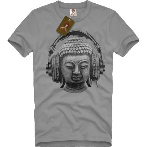DJ BUDDHA Headphones Music Club Men's T-SHIRT trance goa techno hip hop <font><b>om</b></font> Hip Hop men <font><b>tshirt</b></font> rock Unisex t shirt Fashion image