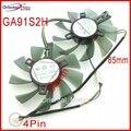 Бесплатная доставка GA91S2H GA91S2U-PFTA DC12V 0.40A 4Pin 86 мм вентилятор VGA для GEFORCE GTX1080 GTX1070 GTX1060 видеокарта вентилятор охлаждения