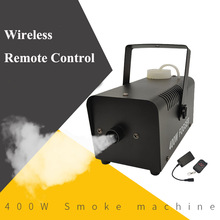 Mini 400W Fog Smoke Mist Effect Machine Disco DJ Party Christmas stage projector with Wire/Remote Control Home floor fogger