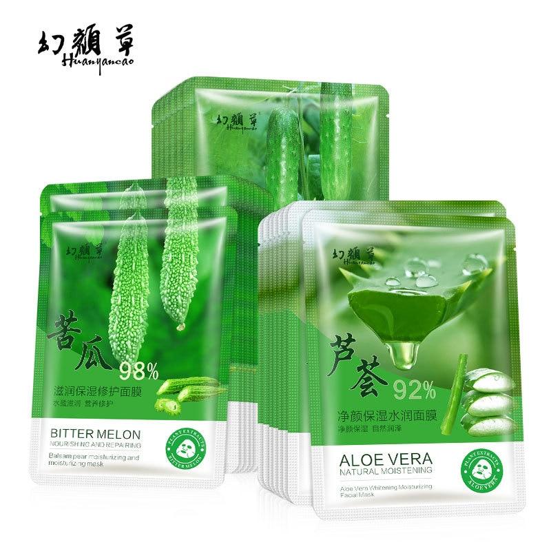 Nature Plant Extract Hyaluronic Acid Facial Masks Moisturizing Depth Replenishment Oil Control Face Mask Skin Care