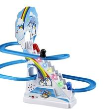 Ephex милый подарок взаимодействие родителя и ребенка пазл Пингвин слайд электрический вагон с музыкой экологически Пластик