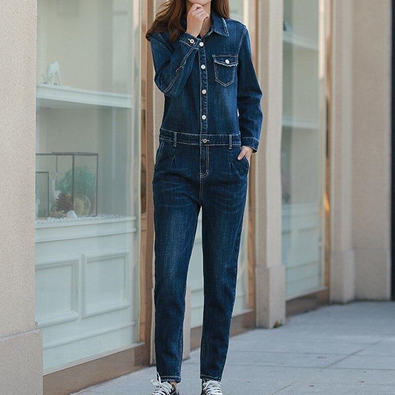 Джинсовые комбинезоны, женские джинсовые комбинезоны, длинные штаны, потертые джинсы, джинсовые повседневные Комбинезоны, женские облегаю