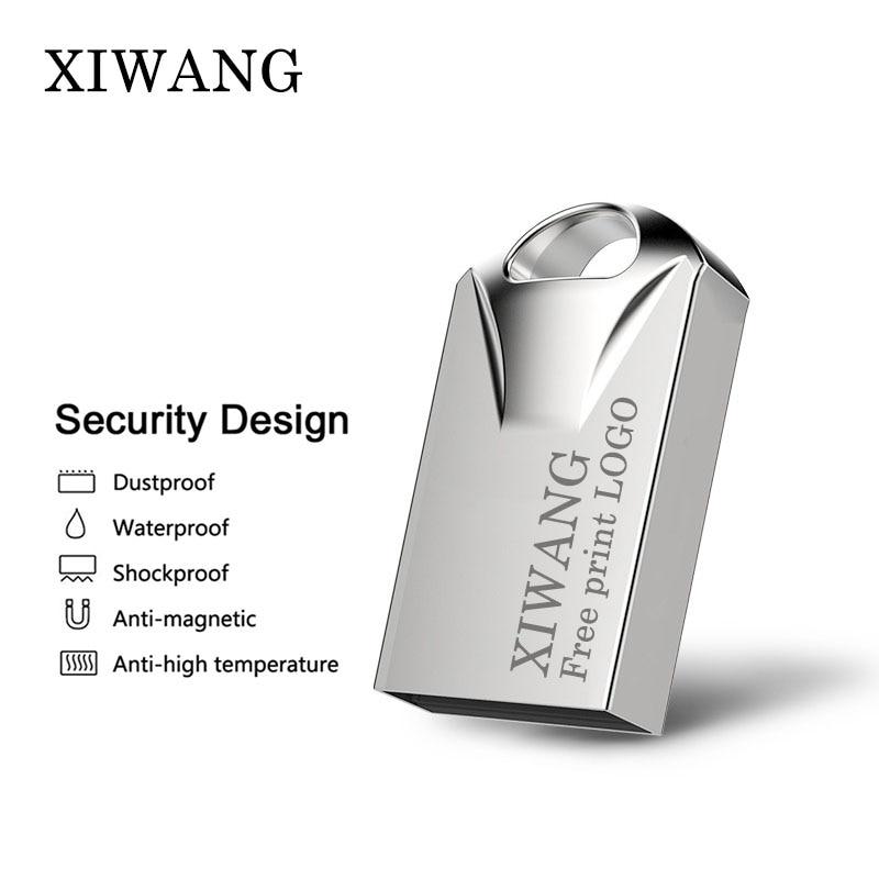 Super Mini Metal Usb Flash Drive 128gb 64 Gb 32gb Pen Drive 16gb 8gb Memoria  Usb 2.0 Memory Stick Pendrive 4gb Free Custom LOGO