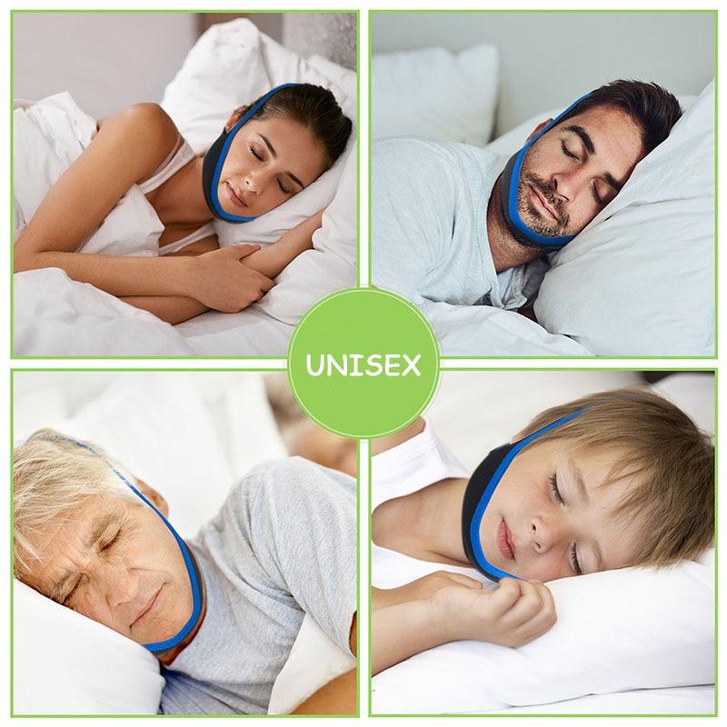 Neoprene Anti Snoring Chin Strap Stop Snore Jaw Belt Snore Stopper Sleep Anti Apnea Chin Support Straps Night Sleeping Aid Tools