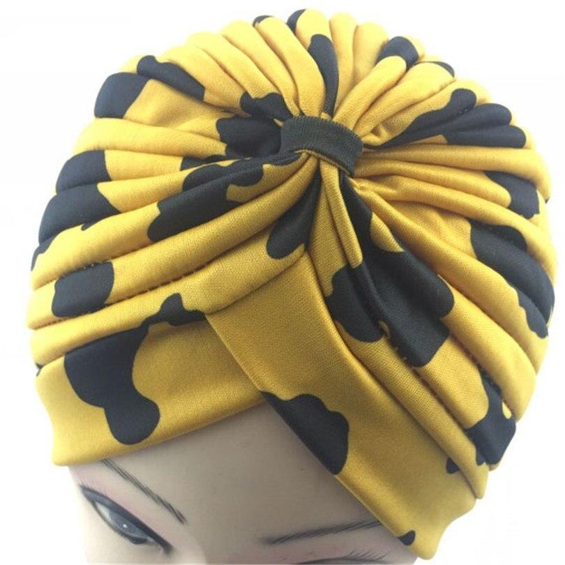 LJCUIYAO Womens Beanie Hat Gradient Colorful Bonnet Feminino Women India Printing Chemo Hat Beanie Scarf Turban Head Wrap Cap
