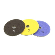 3 Pieces 100Mm Diamond Flexible Wet & Dry Polishing Pads 3 Step Floor Polish For Stone Marble Tile(China)