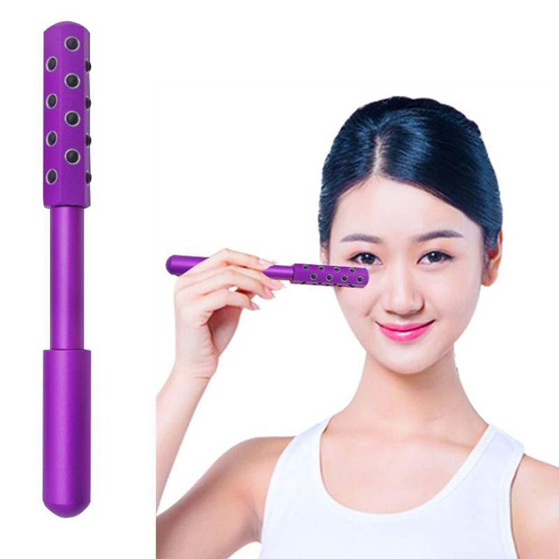 Face Massage Roller Germanium Stone Facial Skin Firming Uplifting Beauty Tool