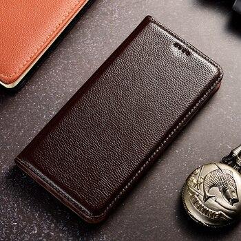Litchi Pattern Genuine Leather Case For Nokia 1 2 3 5 6 7 8 9 X5 X6 X7 X71 2.1 2.2 3.1 3.2 4.2 5.1 6.1 7.1 8.1 Plus Flip Cover