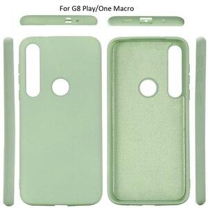 Image 2 - Vloeibare Siliconen Case Voor Motorola Moto G8 Plus Spelen Een Macro Soft Gel Rubber Beschermende