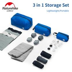Naturehike 3 in 1 Travel Storage Bag Portable Multi-functional Waterproof Clothes Packing Bag Outdoor Sorting Bag Ultralight