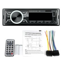 Car Stereo Audio Bluetooth In-Dash Fm Aux Input Receiver Tf 2 Usb Mp3 Player(China)