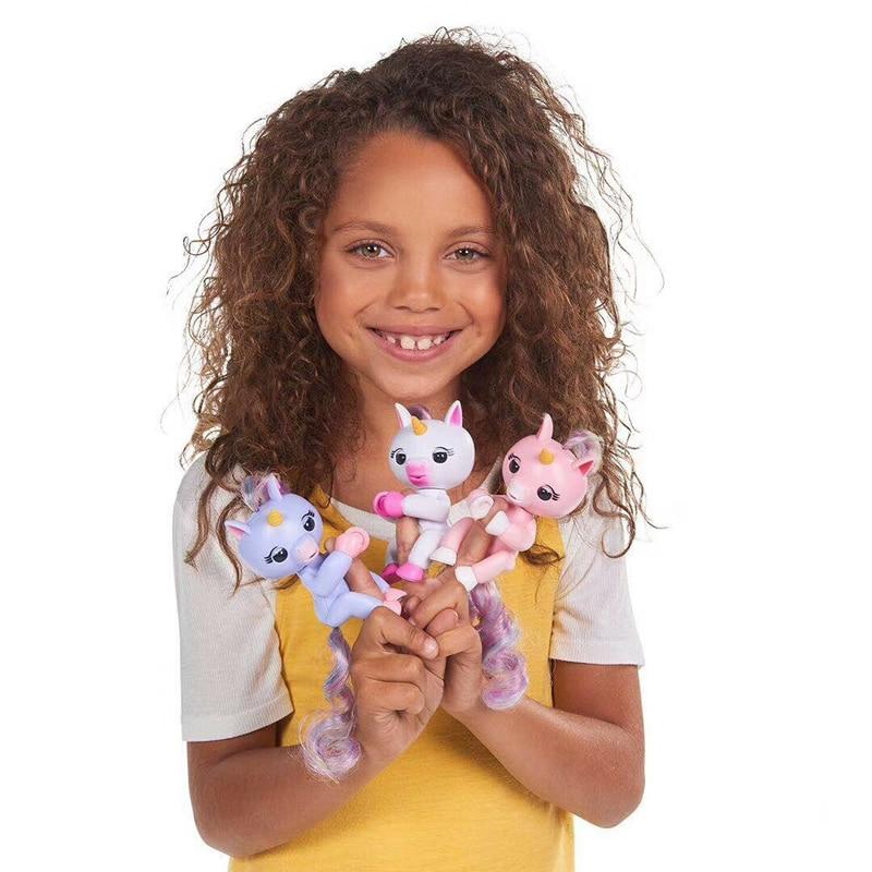 Finger Unicorn Sloths Monkey Pack Fingure Baby Rose Interactive Kid Intelligent Toy Tip Smart Electronic Digital Pet Children