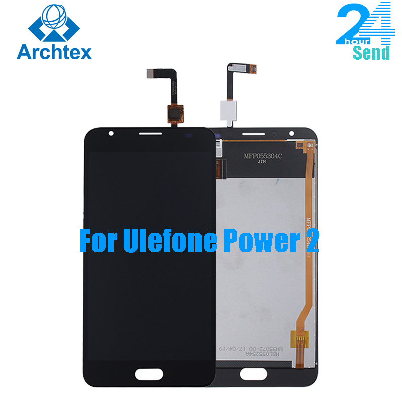 For 100% Original Ulefone Power <font><b>2</b></font> <font><b>LCD</b></font> Display +TP Touch Screen Digitizer Assembly +Tools 5.5