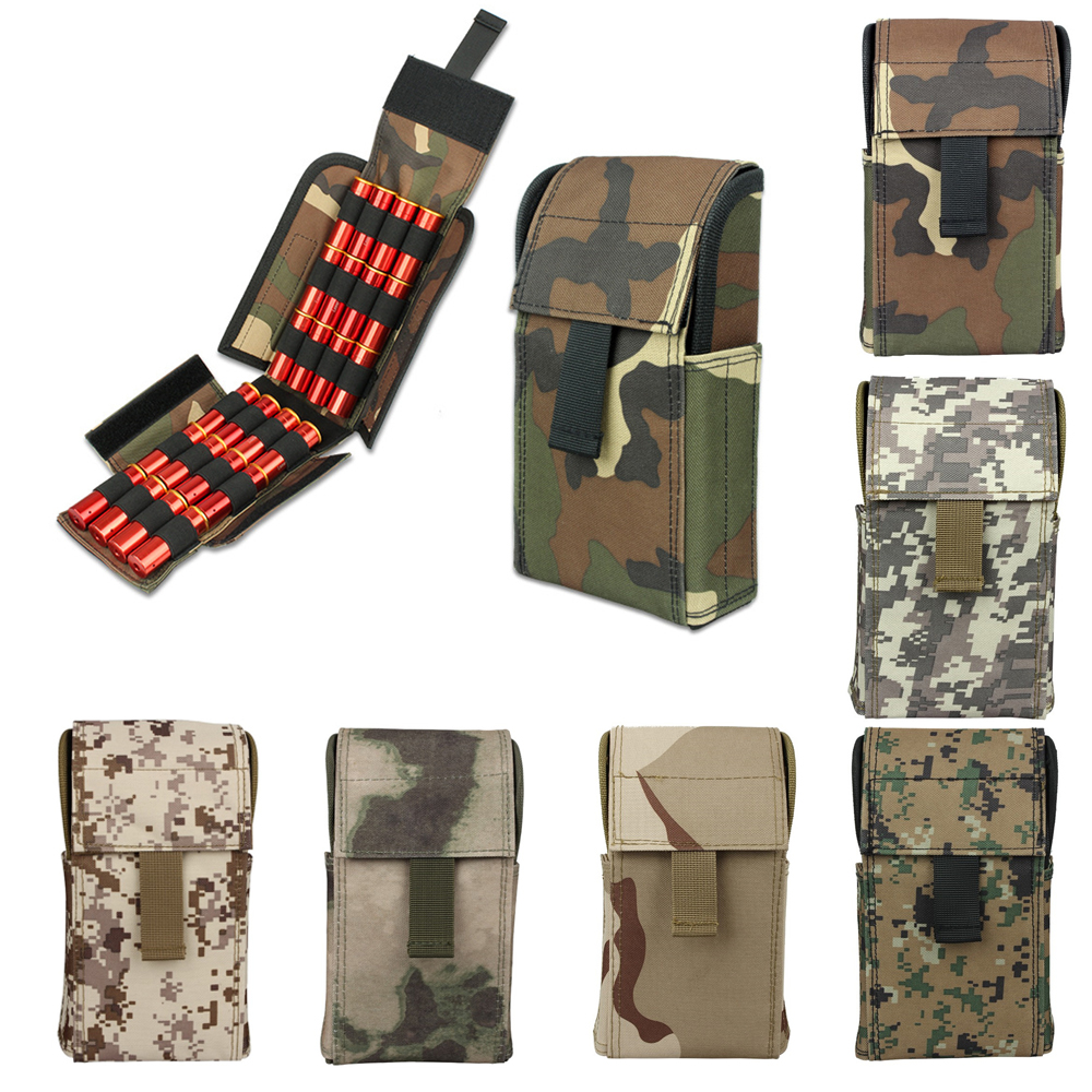 Hunting airsoft molle pouch Tactical 25 Shotgun Shell Ammo Holder Military Bag Accessories image