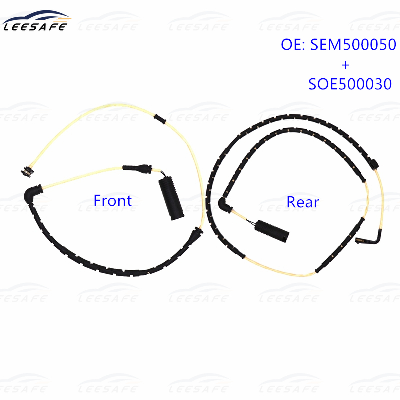 Frente + eixo traseiro freio almofada wear sensor sem500050 soe500030 para land rover range rover l322 linha de alarme substituição