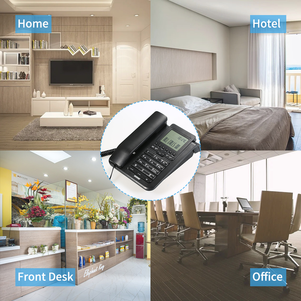 Free ShipÇCorded-Telephone Landline-Phone Lcd-Display 2-Line Digital with Support Desk-3-Way Conference-call/Redial/setš