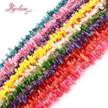 "3-6x5-10mm Irregular Shape Freeform Coral Beads Loose Natural Stone Beads For DIY Necklace Bracelet Earring Jewelry Making 15""(China)"