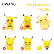 XIWANG Mini Pikachu Real Capacity Flash Drive 4GB 8GB 16GB 32GB 64GB USB Pen Cartoon Stick Free Shipping