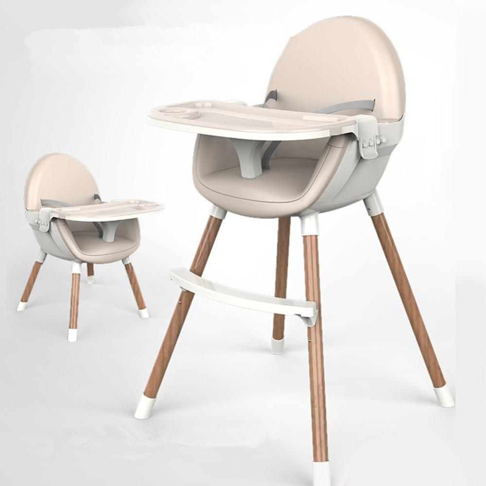 Free Shipping Authentic Portable Baby Seat Baby High Dinner Table Multifunction Wooden Adjustable Folding Chairs For Children