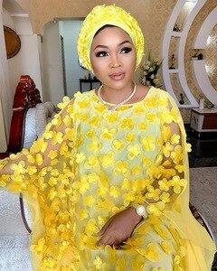 Image 3 - 2019 autunno Super Size New African Dashiki delle Donne di Modo Allentato Del Ricamo Abito Lungo Vestiti Vestito Africano Per Le Donne Africane