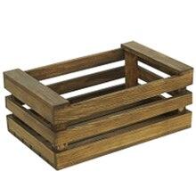 Cesta de almacenamiento de madera Retro Vintage pan postre Mesa decoración marco multifunción organizador cesta exhibición soporte Prop