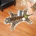 Тигровый Коврик С Принтом Леопарда тигра из воловьей кожи  искусственная кожа  нескользящий мат 80x105 см  ковер с животным принтом