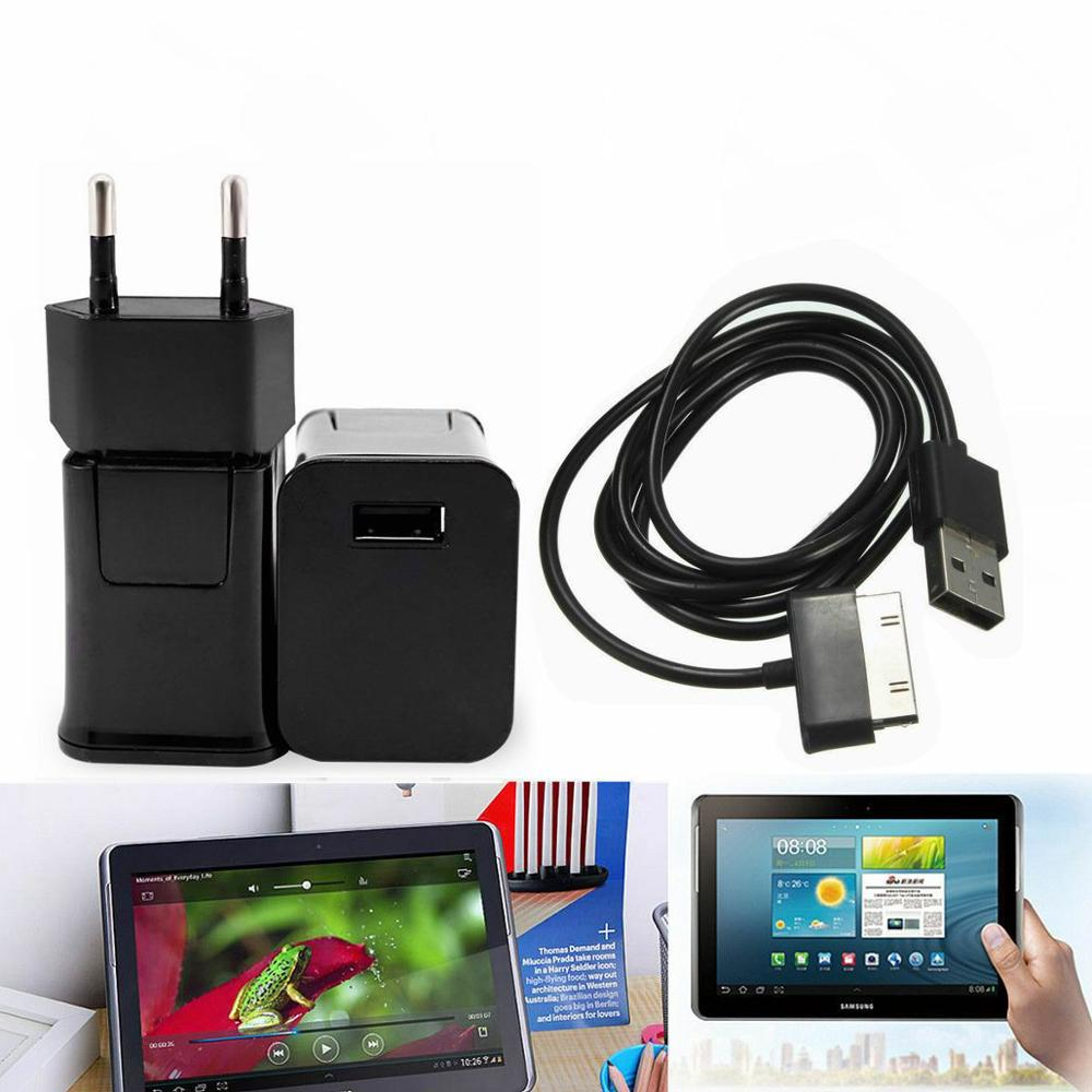 5V 2A EU Plug Travel Wall Charger + 30pin USB Cable For Samsung Galaxy Tab 2 3 7.0 8.9 10.1 Note 2 Tablet P1000