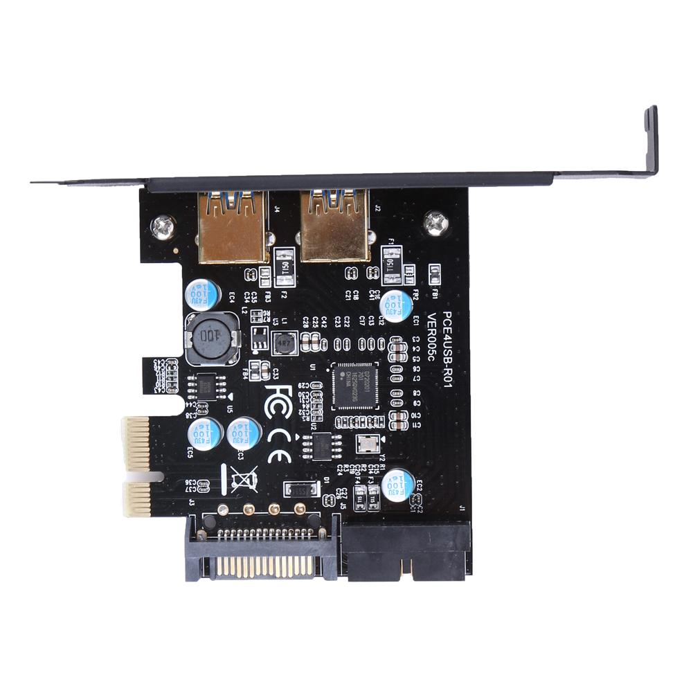 Super Speed 5Gbps PCI-E to 2XUSB 3.0 PCI Express Expansion Card 19-Pin Power Connector support PCIE 1X 4X 8X 16X 3
