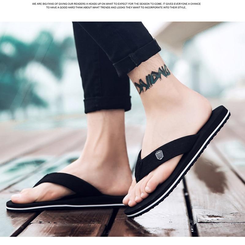 2021 New Arrival Summer Men Flip Flops High Quality Beach Sandals Anti-slip Zapatos Hombre Casual Shoes Wholesale A10 2