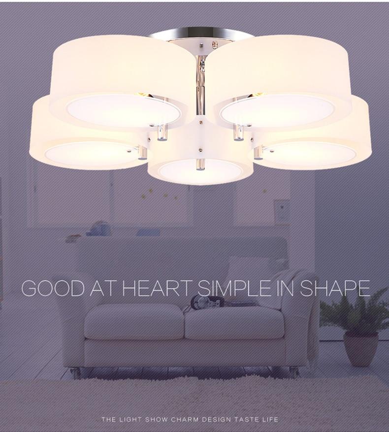 H88159e6e11d54f379d4d4dee2d90fe4ec NEW 2019 Modern Ceiling Lights modern fashionable design dining room lamp pendente de teto de cristal white shade acrylic lustre
