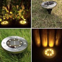 цена на LED Solar Path Light 4/8/10/ LED Solar Power Buried Lights Ground Lamp Outdoor Path Way Garden Decking Underground Lamps