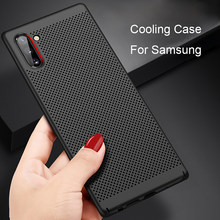 Eqvvol Ultra Slim PC Case Voor Galaxy Samsung S10 S9 S8 Plus Note 8 9 10 Pro A50 A70 M20 hollow Warmteafvoer Back Cover Cases(China)