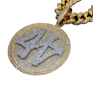 Women Necklace Jewelry Pendant Crystal Big-Turntable Customizable Personality Zircon