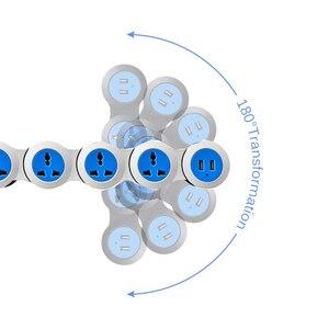 Image 4 - Güç şeridi 4 elektrikli evrensel prizler fişler dalgalanma koruma soketi USB 1.8m uzatma kablosu uzay tasarrufu pratik