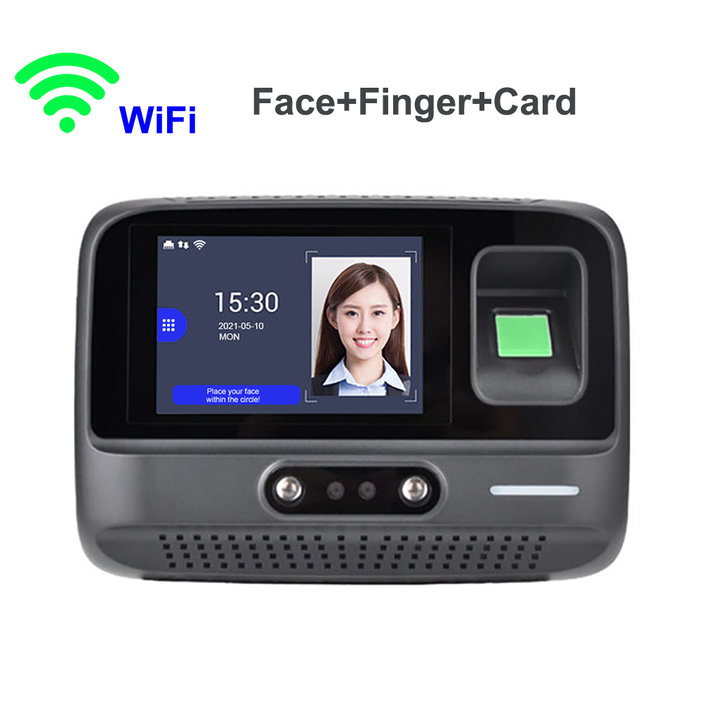 F60 Wifi Tcp/Ip Desk Face Time Attendance Fingerprint and Rfid Card Employee Recording Device
