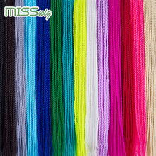 MISS WIG Ombre Senegalese Twist Hair Crochet braids 24 inch 30 Roots/pack Synthetic Braiding Hair for Women grey,blue,pink,bro(China)