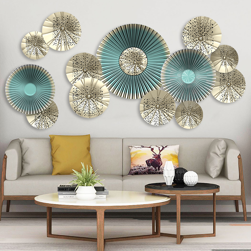 Creative 115*58cm 3D Fan Wall Art Decals European Style Living Room Home Decor Vinyl Bedroom Decoration Posters Wallpaper