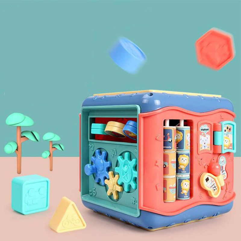 Activity Cube for Toddlers Baby Educational Musical Toy for Kids - Early Development Learning Toys with 6 Different Activities