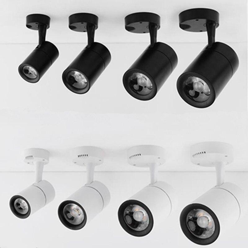 Led COB lamba LED downlight 7w 12w 20w 30w yüzeye monte LED tavan lambaları Spot işık rotasyon LED aşağı