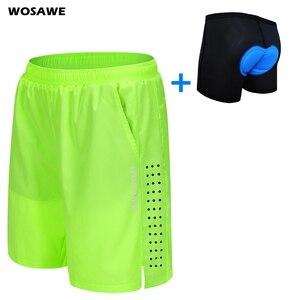 Wosawe calções de ciclismo dos homens ajuste solto calções bicicleta esportes ao ar livre calças curtas mtb mountain shorts resistente à água M-3XL
