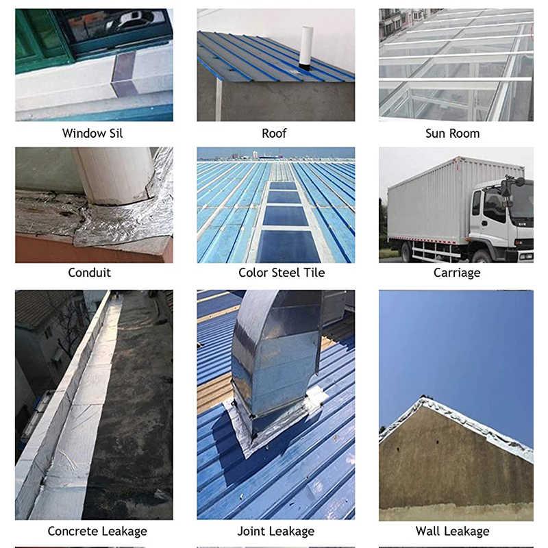 알루미늄 호일 부틸 고무 테이프 자기 접착제 고온 저항 지붕 파이프 수리를위한 방수 홈 리노베이션 도구