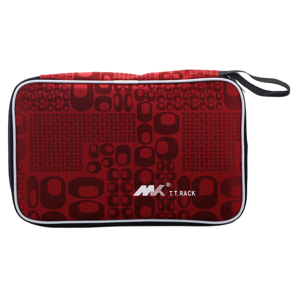 Racket Storage Bag Protective Oxford Cloth Cover Handle Portable Table Tennis Case Durable Accessories Zipper Closure Practical
