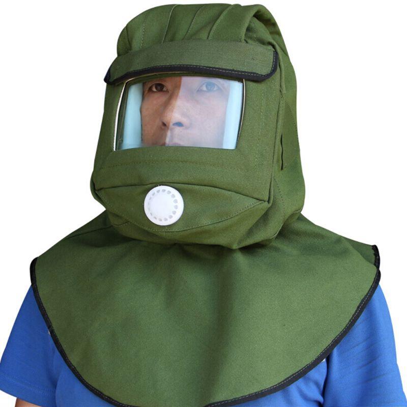 Safety Sandblast Helmet Sand Blast Hood Protector Mask For Sandblasting Grinding