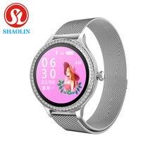 กีฬาSmartWatchหน้าจอสีIP68กันน้ำหญิงสรีรวิทยาเตือนนาฬิกาผู้หญิงEloj Inteligente Mujer Smartwatch