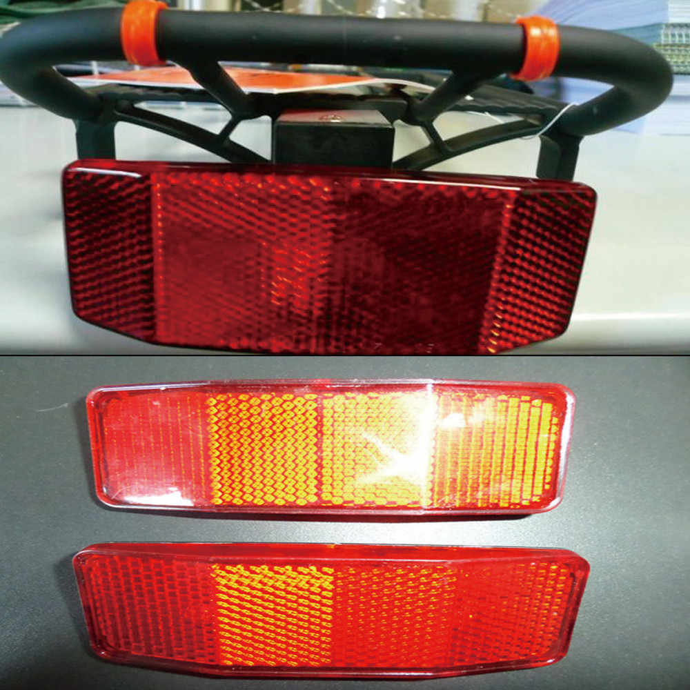 Bicycle Bike MTB Safety Caution Warning Reflector Disc Rear Pannier Racks BestH/&