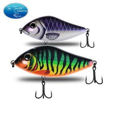 Señuelo de Pesca para Lucio, aparejos de Pesca de baja hundimiento, 70mm 80mm 90mm, anzuelos de calidad