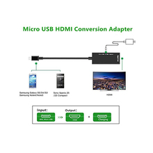 цена на Micro USB to HDMI Adapter Converter Cable 1080P HDTV for Android Devices Samsung Galaxy Note 4, Note Edge, S2, LG,HTC Xiaomi M8